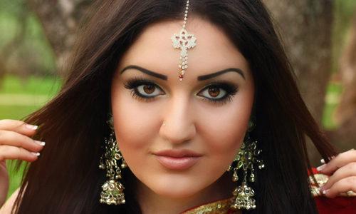 Макияж лица в индийском стиле