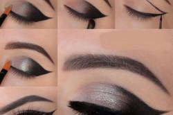 Нанесение темного макияжа для глаз
