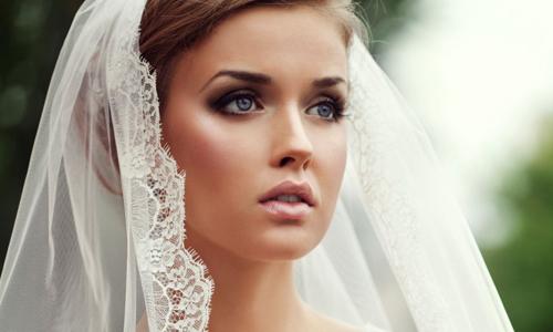 Свадебный макияж к голубым глазам
