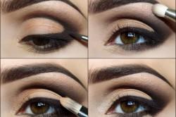 Этапы голливудского макияжа глаз