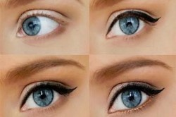 Этапы вечернего макияжа для больших глаз
