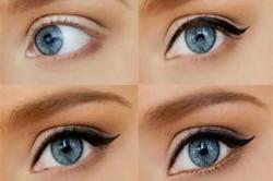 Этапы макияжа глаз со стрелками