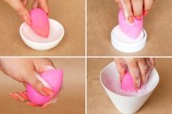 Этапы правильного мытья спонжа