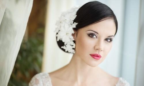 Эффектный свадебный макияж