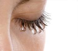 Эффект водостойкой туши на ресницах
