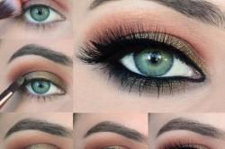 Вариант смоки айс для зеленых глаз