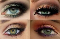 Варианты макияжа для зеленых глаз