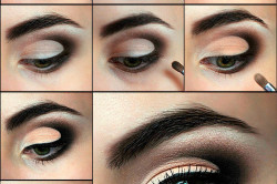 Этапы вечернего макияжа для зеленых глаз