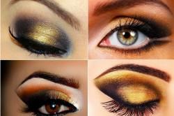 Варианты макияжа с золотыми тенями
