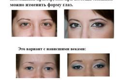 Изменение разреза глаз при помощи макияжа