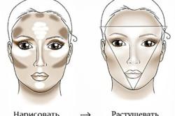 Схема нанесения базы под макияж