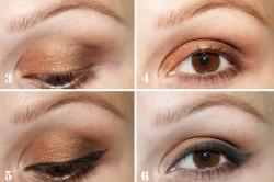 Этапы макияжа для карих глаз