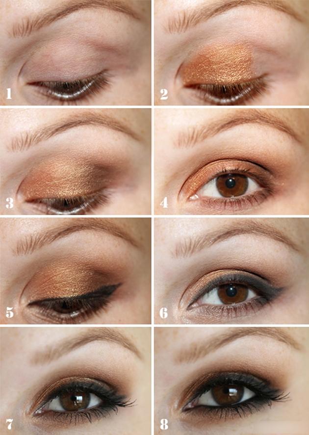 Как тенями сделать глаза больше