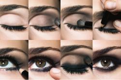 Техника нанесения макияжа smoky eyes
