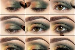 Схема нанесения макияжа для карих глаз