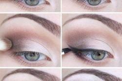 Нанесение макияжа для голубых глаз с использованием теней пастельных тонов
