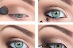 Этапы повседневного макияжа глаз