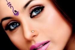 Красивый восточный макияж для голубых глаз