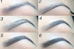 Последовательность макияжа бровей