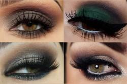 Вечерний макияж для каре-зеленых глаз