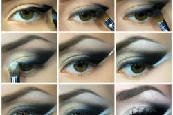 Дневной макияж для каре-зеленых глаз