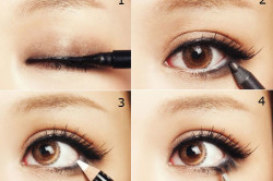 Этапы подводки глаз
