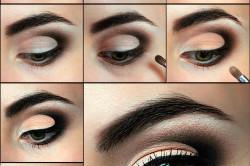 Этапы сождания вечернего макияжа для зеленых глаз